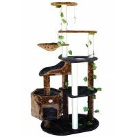 Go Pet Club F2092 74 in. Black and Brown Cat Tree Furniture