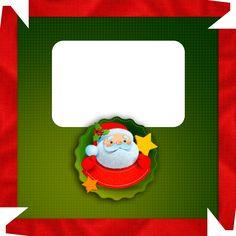 Caixa de Bombom Natal Guirlanda Papai Noel com foto