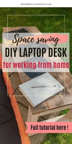 Looking for space saving DIY laptop desk for working from home? Then check this quick tutorial how to build one in no time! Step by step instructions for simple DIY laptop table that can be used in bed or while sitting on the sofa. Quick DIY project that can be done in a afternoon even by a beginner. Click through for full instructions! Diy Projects Using Wood, Diy House Projects, Woodworking Projects Diy, Cool Diy Projects, Pallet Projects, Project Ideas, Laptop Table, Laptop Desk, Steel Wool And Vinegar
