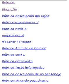 Rúbricas en español, para diferentes actividades.
