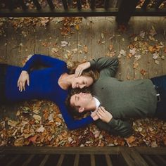 Romantic engagement photography in the fall in western North Carolina