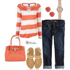 """""""Spring Stripes"""" by hrtheo on Polyvore"""