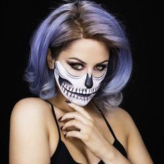 Searching for some Halloween inspo? Look no further and check out this easy how-to tutorial on how to recreate the 'Half Skull' make-up look!