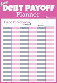 Do you want to be debt free? Use this simple debt payoff planner printable to keep track of your debt and help you payoff our loans.