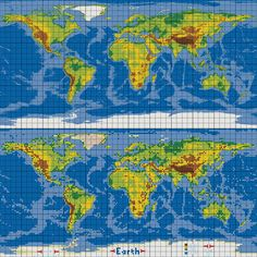 dirks LEGO world map 30 marble versus pixel grid