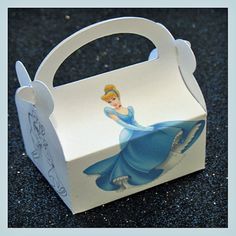 princess cinderella party favor box princess by tinygiftboxes, $1.35