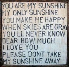 You Are My Sunshine Vintage Framed Art Print
