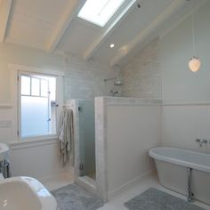 master bathrooms with shower and tub | Subway Shower Craftsman Mission Design Ideas, Pictures, Remodel, and ...