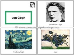 Vincent van Gogh Art Book - Montessori art lesson for Montessori Learning at home and school.- 0.99