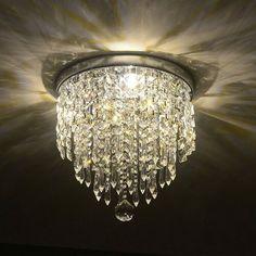 "Ivy Bronx Moritz 33' L x 20.5"" W Wallpaper Roll & Reviews | Wayfair Crystal Lights, Crystal Ball, Crystal Chandeliers, Crystal Ceiling Light, Glass Crystal, Light Led, Lamp Light, Flush Mount Chandelier, Flush Mount Lighting"