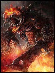 In Norse mythology, Surtr is a Fire Jotun and the king of the Fire Giants that inhabit the realm of Muspelheim. Though currently unable to leave Muspelheim, Surtr is prophesied to break free during Ragnarok and lead the Jotnar in an attack against the gods where he is destined to slay the god Freyr.