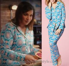 """Mindy is certainly the queen of cute pajamas! These ones will be coming up in next week's episode of The Mindy Project, """"The Bitch is Back""""!"""