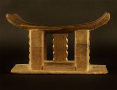 Repaired Wooden Ashanti/Asante Stool #43 | Ashanti/Asante Stools | Stools / Chairs — Deco Art Africa - Decorative African Art - Ethnic Triba...