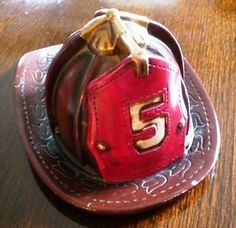 Vintage Fire Helmet Bank by PerfectHomeAntiques on Etsy, $21.99