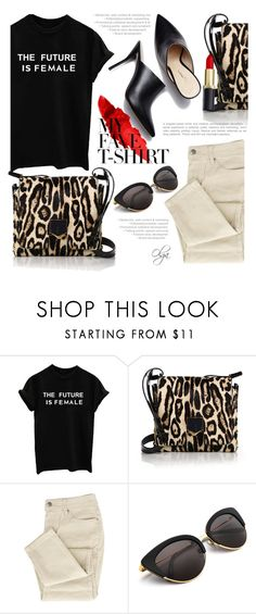 """""""The Future is Female"""" by olga1402 on Polyvore featuring Jimmy Choo, 3.1 Phillip Lim and MyFaveTshirt"""