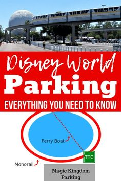 Everything you need to know about parking at Disney World - cost location where to park for free disability parking and more! Get Disney World tips and tricks travel hacks planning advice and more. Disney World Florida, Disney World Parks, Walt Disney World Vacations, Disney World Resorts, Disney Cruise, Disney Travel, Florida Vacation, Family Vacations, Cruise Vacation