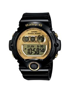 Casio Womens BG69011 BabyG Black Resin and GoldTone Accented Large Digital Sport Watch -- Check out the image by visiting the link.