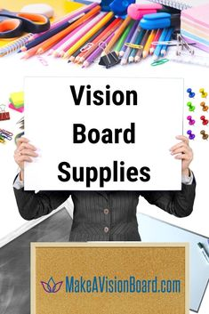 Vision Board Supplies - Buy Now or Get Your Free Printable List All About Vision, Slate Board, Solar System Crafts, Felt Tip Markers, Making A Vision Board, Dry Erase Board, Positive Affirmations, Free Printables, Vision Boarding