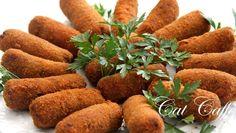 Croquetes de carne, Receita Petitchef Savoury Finger Food, Finger Foods, Portuguese Recipes, Portuguese Food, Fermented Foods, Yams, Junk Food, Cooking Tips, Sweet Potato