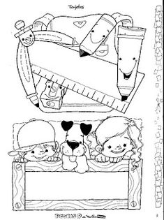 Album Archive - Revista Figuras Nº 9 Colouring Pages, Adult Coloring Pages, Coloring Books, Nametags For Kids, School Border, Portfolio Covers, Cute Notebooks, Name Tags, Teacher Hacks