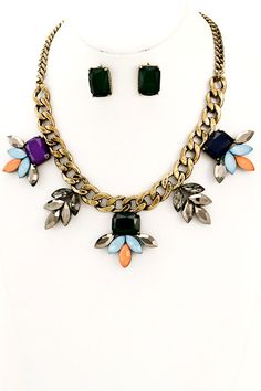 The Heartbreaker Bib Necklace - Multi - $28.00 | Daily Chic Accessories | International Shipping
