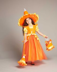 5 Piece Costume Candy Corn Charmer Girls X-Large 14-16 NWT Free Shipping
