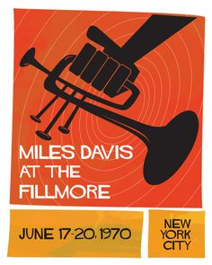 Miles Davis at the Fillmore by Rashad Assadullahi, via Behance