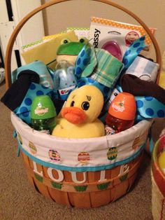 Poohs library personalized baby gifts babies here babies there louies first easter basket negle Images