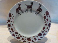 Grande assiette motif Girafes - Photo de 3 - Assiettes - Atelier des Aubépines