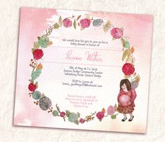 Pretty Pink Pregnant Mommy Garland Baby Shower by SixDaysCreations, $20.00