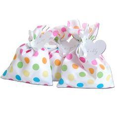 Rainbow Polka Dot Fabric Party Bag x 1: Amazon.co.uk: Kitchen & Home