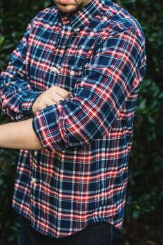 Old Glory Plaid Fairbanks Flannel Shirt