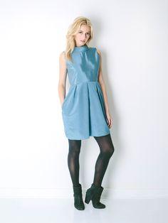 The Camilyn Beth 'Amelia' Dress in William Blue | Shop Now | FW15