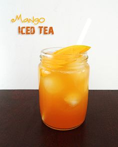 This Mango Iced Tea is a delicious summer refresher. Naturally sweetened and made with real mango.