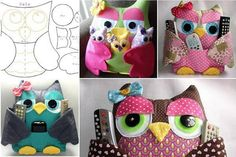 Owl Remote Control Holders with 9-page PDF pattern