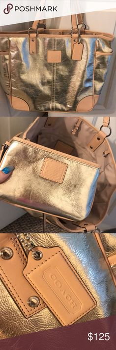 Coach Purse Large Coach purse with smaller matching wristlet! Coach Bags Totes