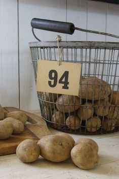 Potatoes in a great old basket