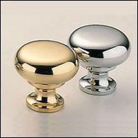 Classic /& Modern Mushroom Knob Size Finish 1 H x 1 W x 1 D Polished Nickel Plated Omnia 9100//25.14