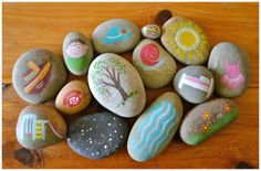 Story Stones Ideas - Painted Story Stones