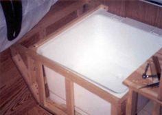 Great blog detailing installation of under-dinette shower in popup camper.