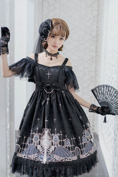 Grove Deer [The Lost Continent - Pardminenan] Lolita High Waist OP Dress Jumper Dress
