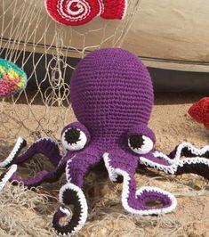 How To Make Octopus Online | JOANN Crochet Gratis, Crochet Amigurumi, Amigurumi Patterns, Crochet Dolls, Beach Crochet, Cute Crochet, Crochet For Kids, Crochet Baby, Crochet Free Patterns