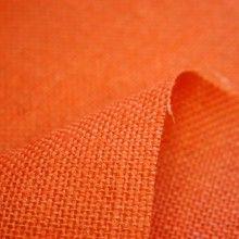 Tissu Toile de jute orange unie