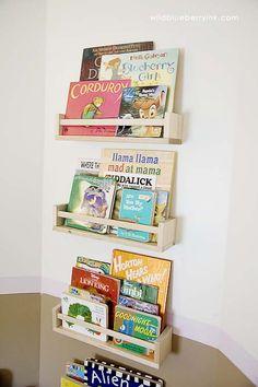 Spice Racks @ Target for built in bookshelf so easy/cheap/cute