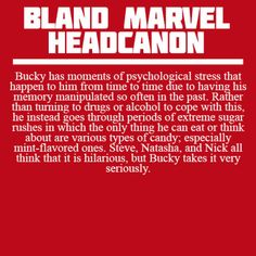 <Marvel Headcanons> All of the Avengers have huge collections of candy because of this.