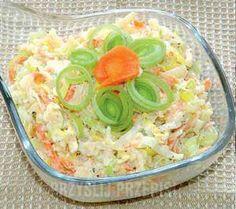 superszybka sałatka z porów Appetizer Salads, Appetizers, Polish Recipes, Side Salad, Easy Salads, Pasta Salad, Potato Salad, Food And Drink, Veggies