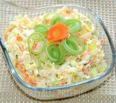 Superszybka surówka z porów Appetizer Salads, Appetizers, Polish Recipes, Side Salad, Easy Salads, Pasta Salad, Potato Salad, Food And Drink, Veggies
