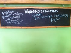 Fergie's Cafe in Squamish @sunwolf has amazing weekend specials - say yum to rhubarb and apple french toast!