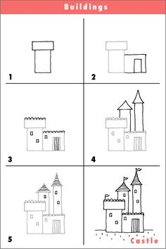 Step by step house drawing…try it! | Facebook, House doodle and A ...