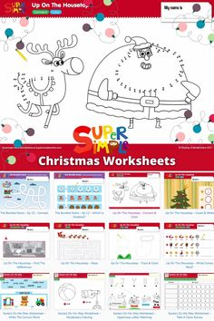 Check out our free printable Christmas coloring pages, worksheets and flash cards.